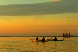 Sunset sea kayaking: Rovinj